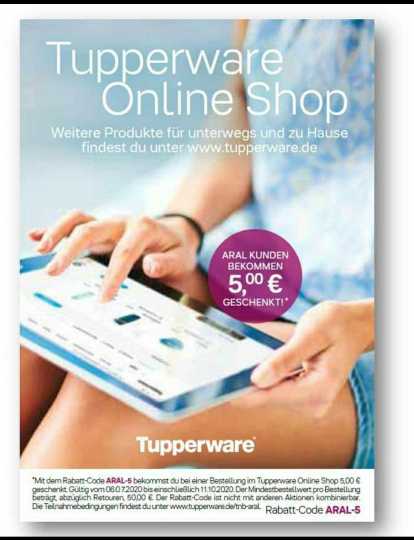 5€ bei tupperware.de (MBW: 50€)