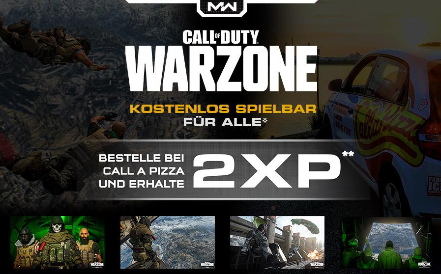 Doppelte XP bei Call of Duty: Warzone bei einer Bestellung bei Call a Pizza