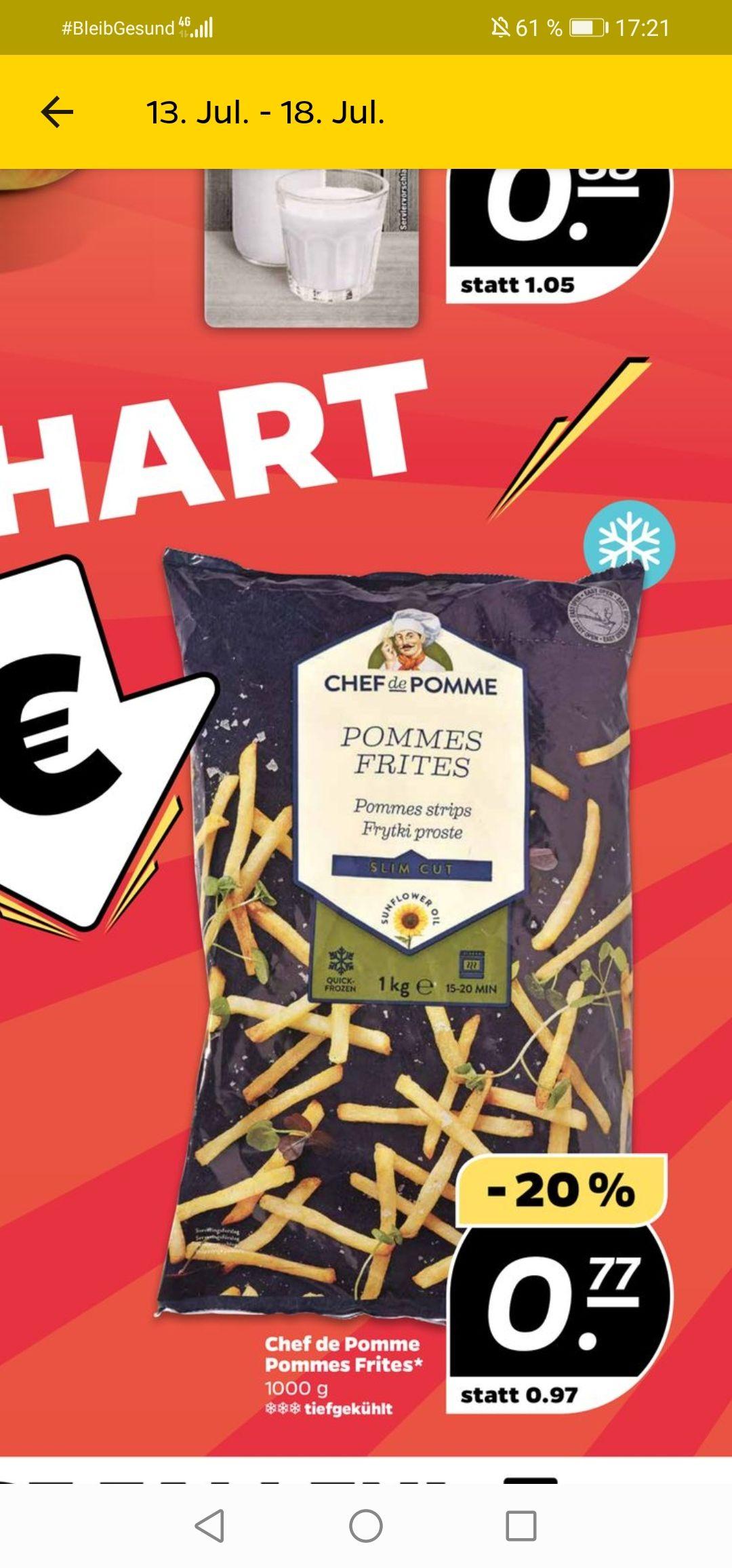 [Netto mit Hund] Chef de Pomme Pommes Frites 1kg für 0,77€