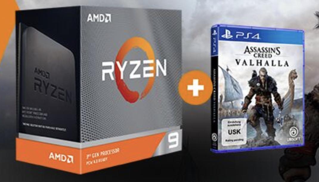 AMD Ryzen 7 3700X + Assassins Creed Valhalla Gaming-Code (vermutlich PC Version) für 267,58€ inkl. Versandkosten