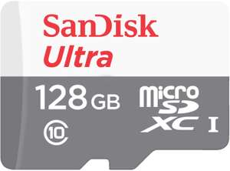 SanDisk Ultra 128GB microSDXC Speicherkarte (bis zu 80 MB/Sek, Class 10, A1) [Amazon & MediaMarkt]
