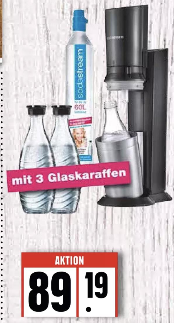 SodaStream Crystal 2.0 inkl. 3x Glaskaraffen 89,19€ | Konzentrat z.B. Pepsi 3,27€ | Tausch Co² Zylinder 5,41€ [Regional Edeka Nord]