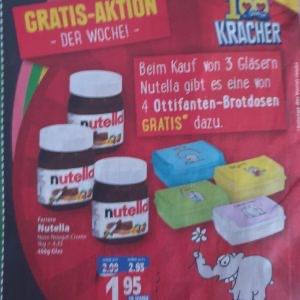 [Edeka Center] 3x Nutella kaufen Ottifanten-Brotdose gratis