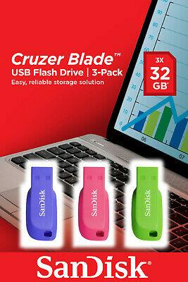 SanDisk Cruzer Blade 3er Pack, USB-Stick, USB 2.0, 32GB für 10,53€