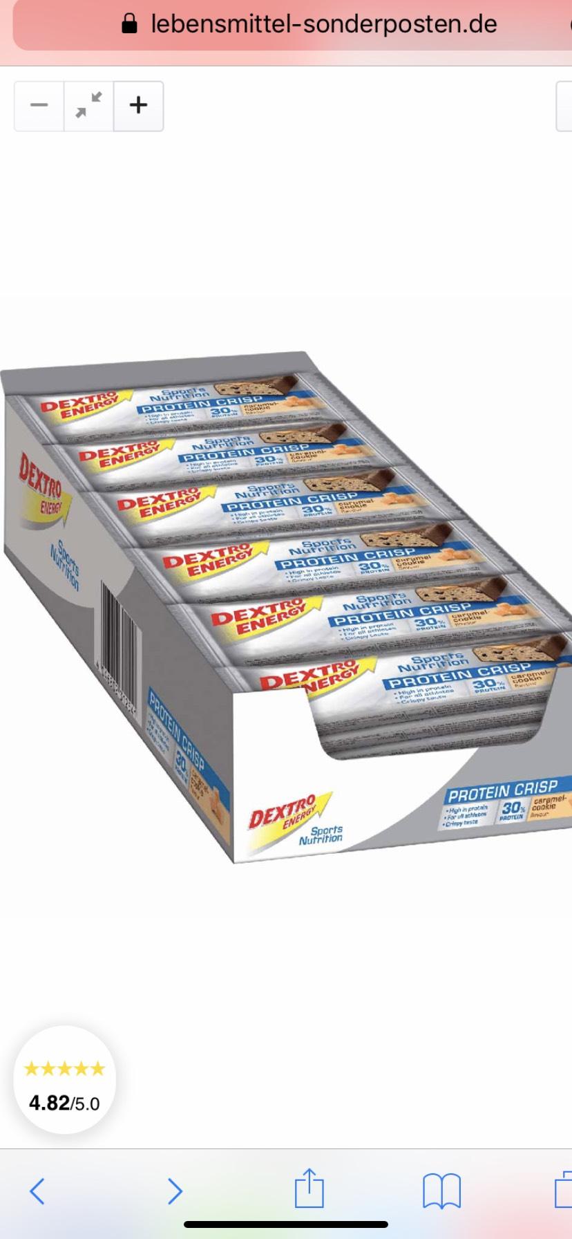 24x Dextro Energy Protein Crisp Caramel-Cookie á 50g=1,2kg MHD:8/20
