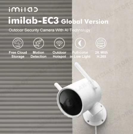 IMILAB EC3 IP Kamera mit KI-Technologie für den Außenbereich Mi Home kompatibel