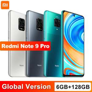 "Xiaomi Redmi Note 9 Pro 6GB 128GB NFC Snapdragon 720g 64MP Quad Kamera 6.67"" Screen 5020mAh"