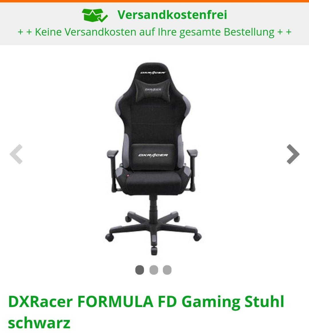 DX Racer FD 01 Gaming Stuhl in schwarz/grau