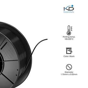 KabelDirekt KD Essentials - PLA Filament 1,75mm - 1kg [Prime]