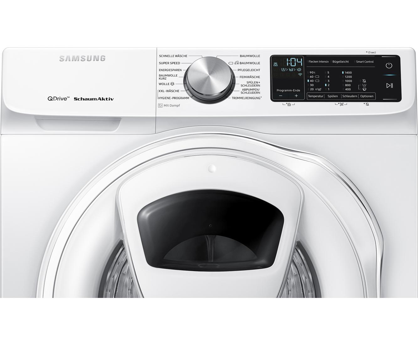 Samsung WW7GM640SQW/EG Waschmaschine für effektiv 409€ durch Samsung Cashback (A+++/157kWh/1400 RPM/AddWash/QuickDrive/SmartControl)