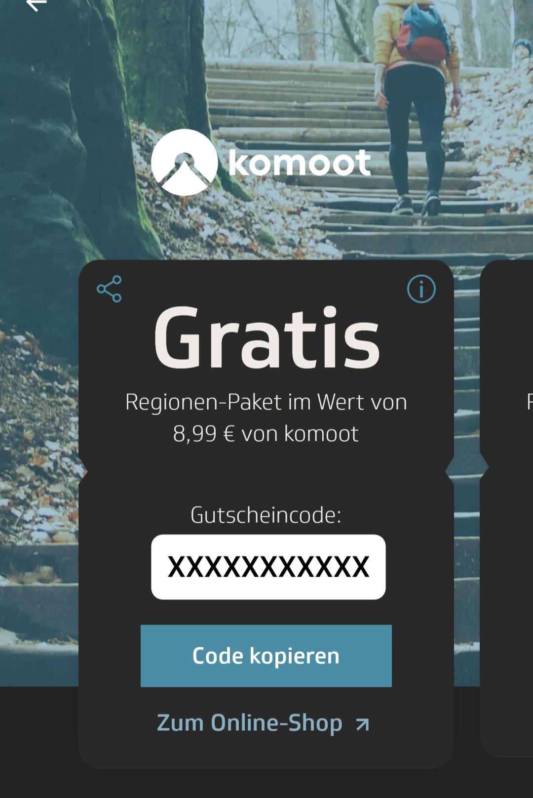 [Techniker Krankenkasse - TK App] Gratis Komoot Regionenpaket für 30 Tage je 7000 Schritte
