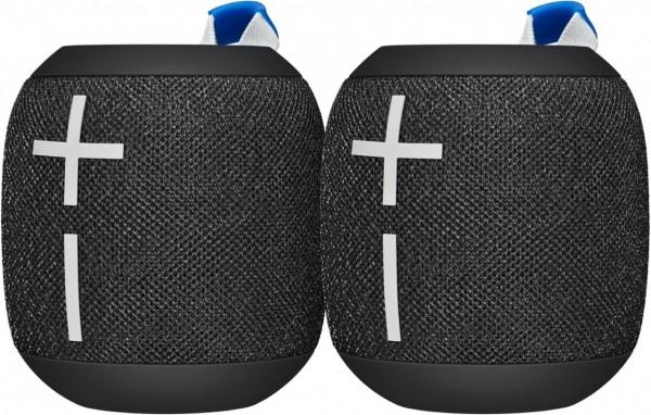 Ultimate Ears Wonderboom 2 als DUO Pack, wasser- und staubdicht nach IP67, mit Akku, schwarz