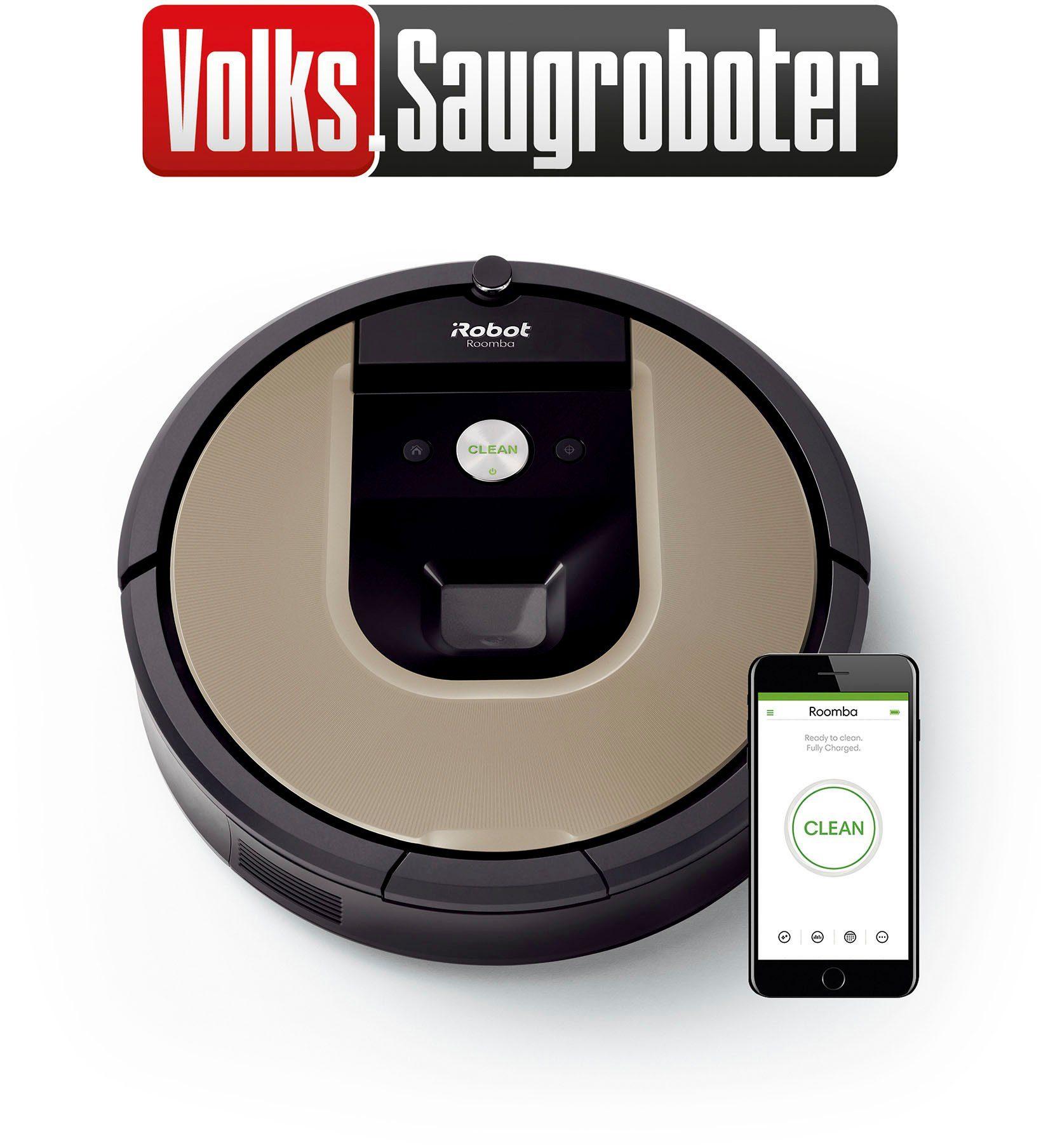 (elektro-billiger.net) iRobot Saugroboter Roomba 966, Volks-Saugroboter, Appfähig