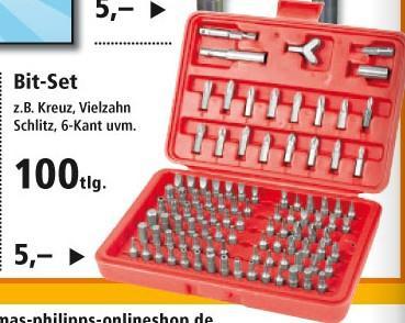 Thomas Philips ab 21.01. 100-teiliges Bitset mit Koffer nur 5,- Euro