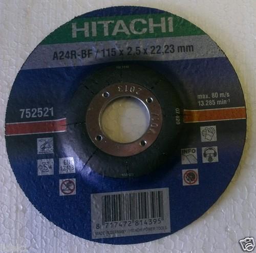 Hitachi Trennscheibe für Metall  A24R 115 x 2,5 x 22,2 mm für nur 2,25 EUR inkl. Versand! (1,25 € + 1,- € VSK)
