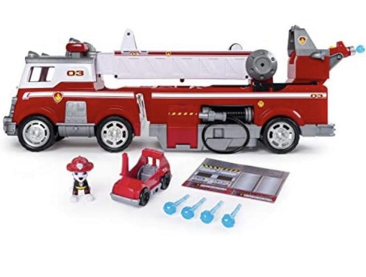 PAW Patrol Spin Master - Ultimate Rescue Feuerwehrauto mit Marshall - Figur