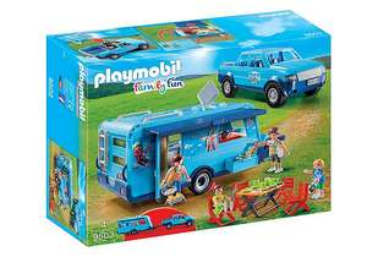 Playmobil Family Fun - Pick Up mit Wohnwagen 9502