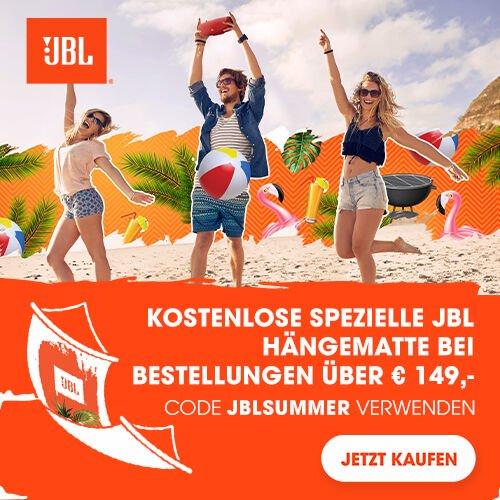 Kostenlose spezielle JBL Hängematte bei Bestellungen über €149,0