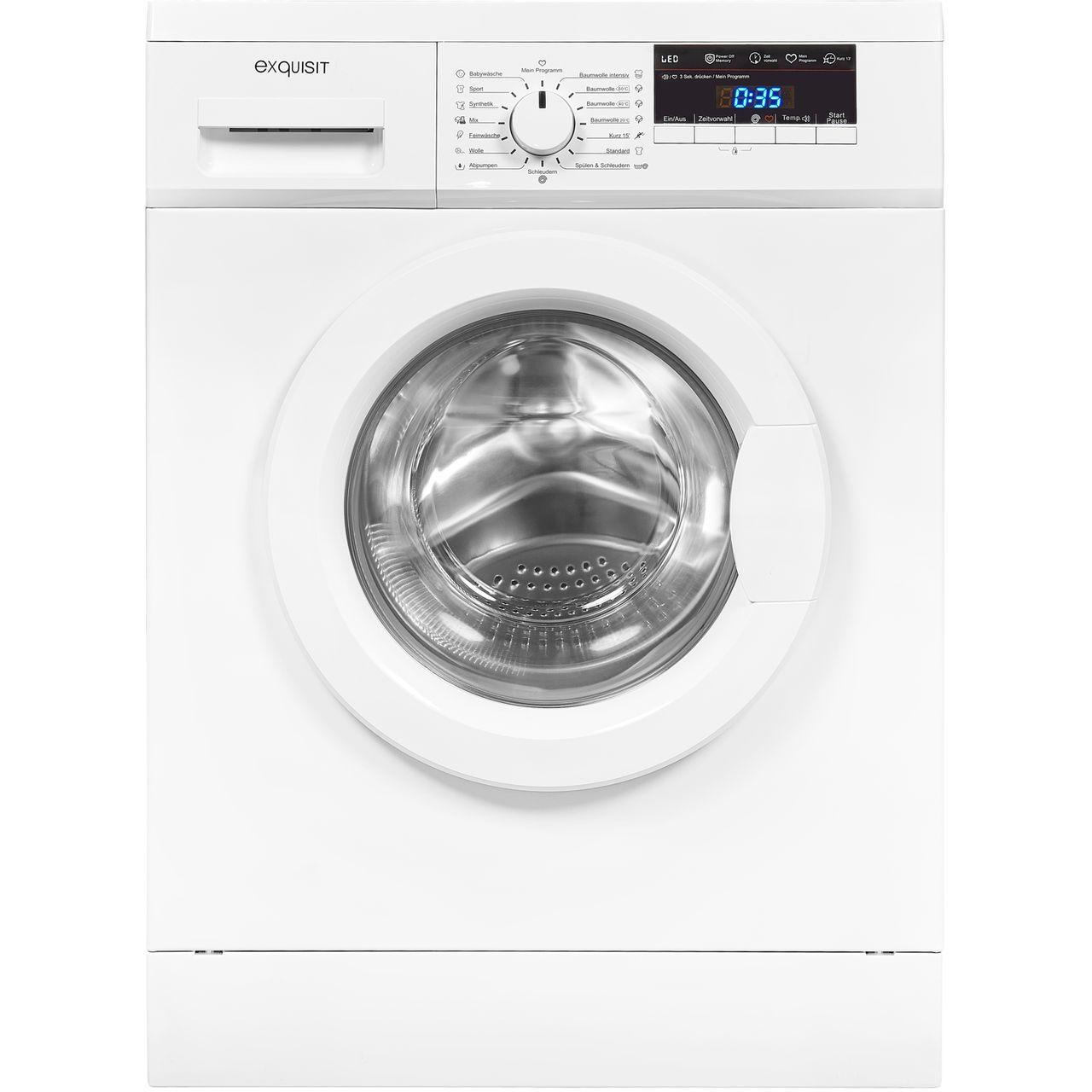 Exquisit WA 8114-3 Waschmaschine ( 8 kg, 1400 U/Min, A+++, Startzeitvorwahl 24 Stunden )