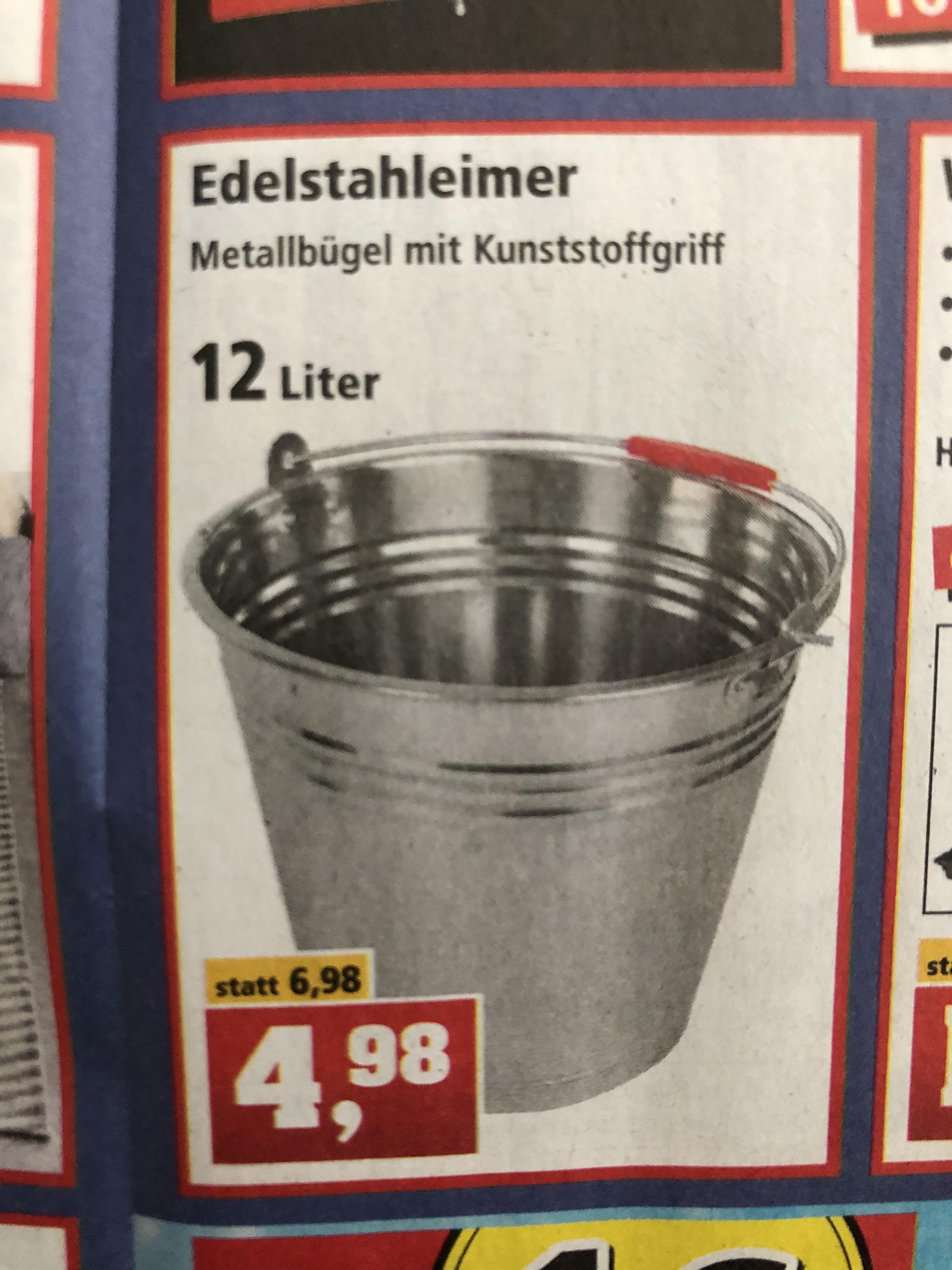 Thomas Philipps Edelstahleimer 12l 4,98€