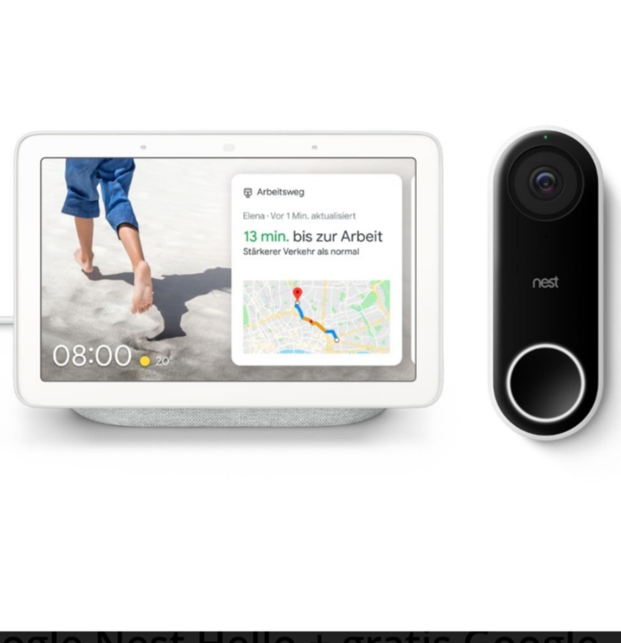 Google Nest Hello Videotürklingel und Google Nest Hub