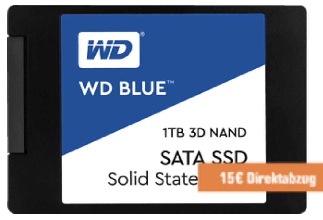 WD Blue 3D 1TB SSD für 91,97€ inkl. Versandkosten