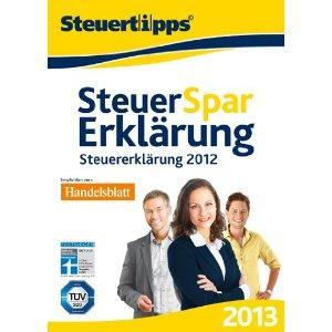 Steuer-Spar-Erklärung 2013 Normal & Selbstständige für PC & Mac
