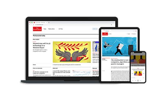 The Economist digital mit Indischer Adresse fast 80% gespart