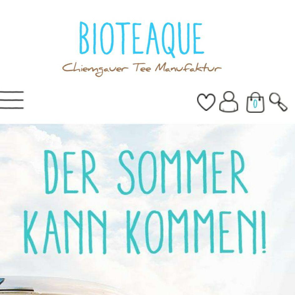 20% auf das ganze Tee Sortiment der Bioteaque