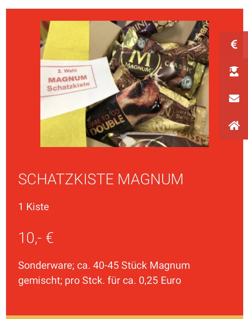 Magnum Schatzkiste Lokal Werksverkauf