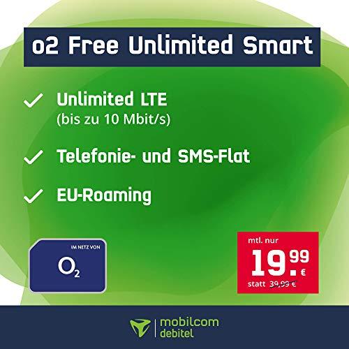 Mobilcom-Debitel o2 Free Unlimited Smart (unlimitiertes Datenvolumen, 10 Mbit/s) für 19,99€ / Monat (24 Monate) [Telefónica-Netz]
