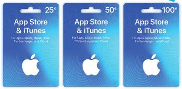 15% extra Guthaben für Apple AppStore & iTunes Geschenkkarten [ALDI-NORD]