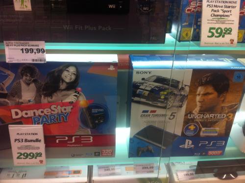Marktkauf: PlayStation 3 Bundle 500Gb Uncharted 3 & GT5 oder anderes Bundle