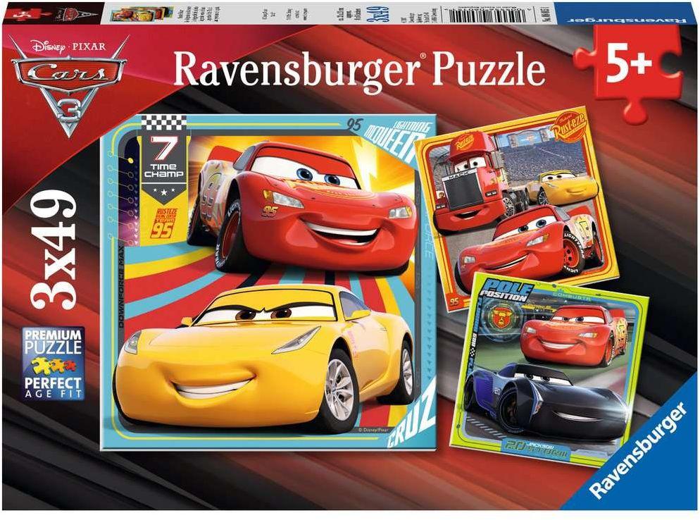Ravensburger Kinderpuzzle Bunte Flitzer , 49 Teile ( Hugendubel Filiallieferung )