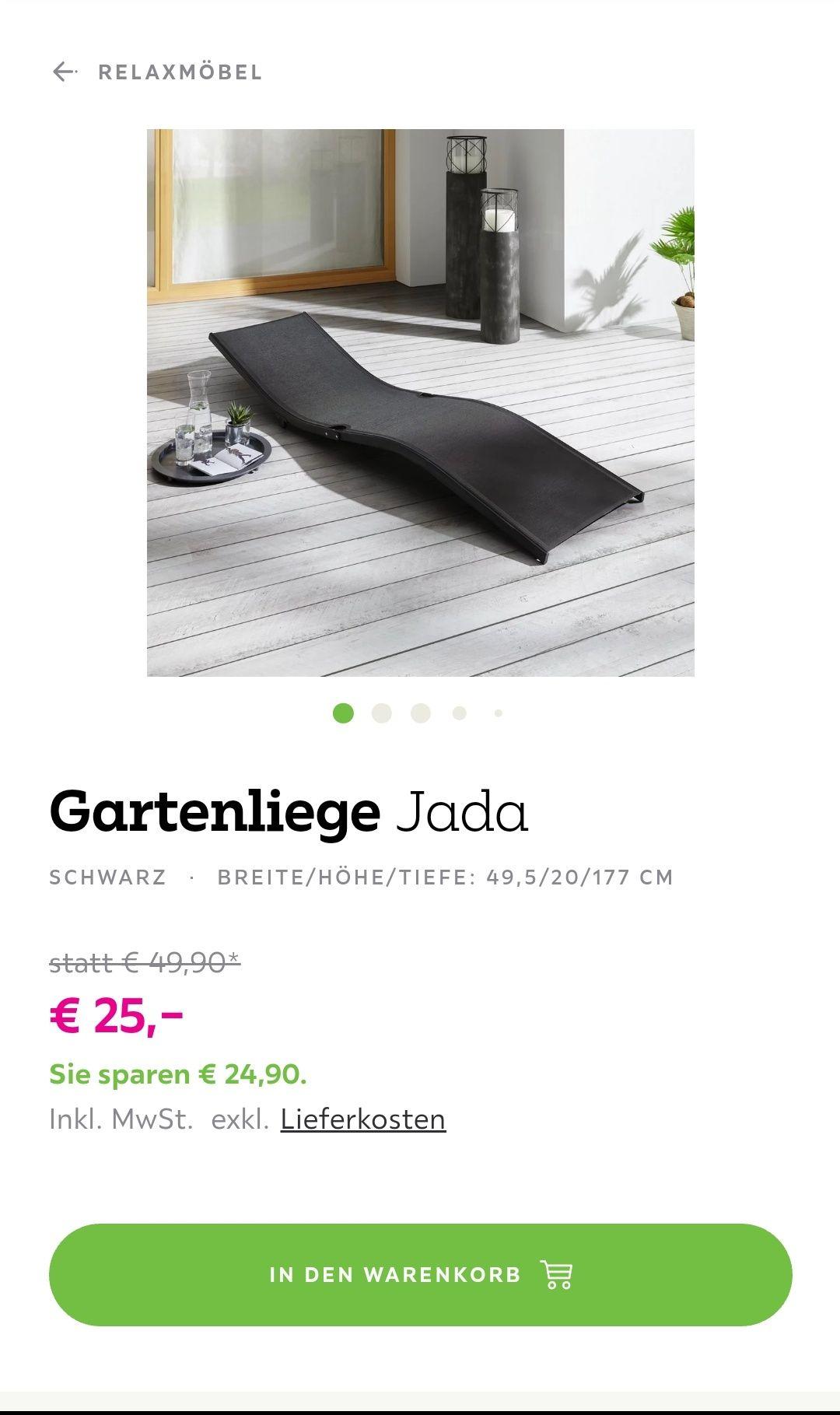 BESSAGI Garden GARTENLIEGE Jada (noch 20min gültig)