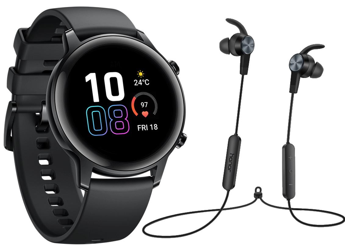 Bundle: Honor Magic Watch 2 42mm schwarz + Sport Bluetooth Earphones oder Mini Speaker oder Easyfit Armband für 119,90€ (46mm für 139,90€)