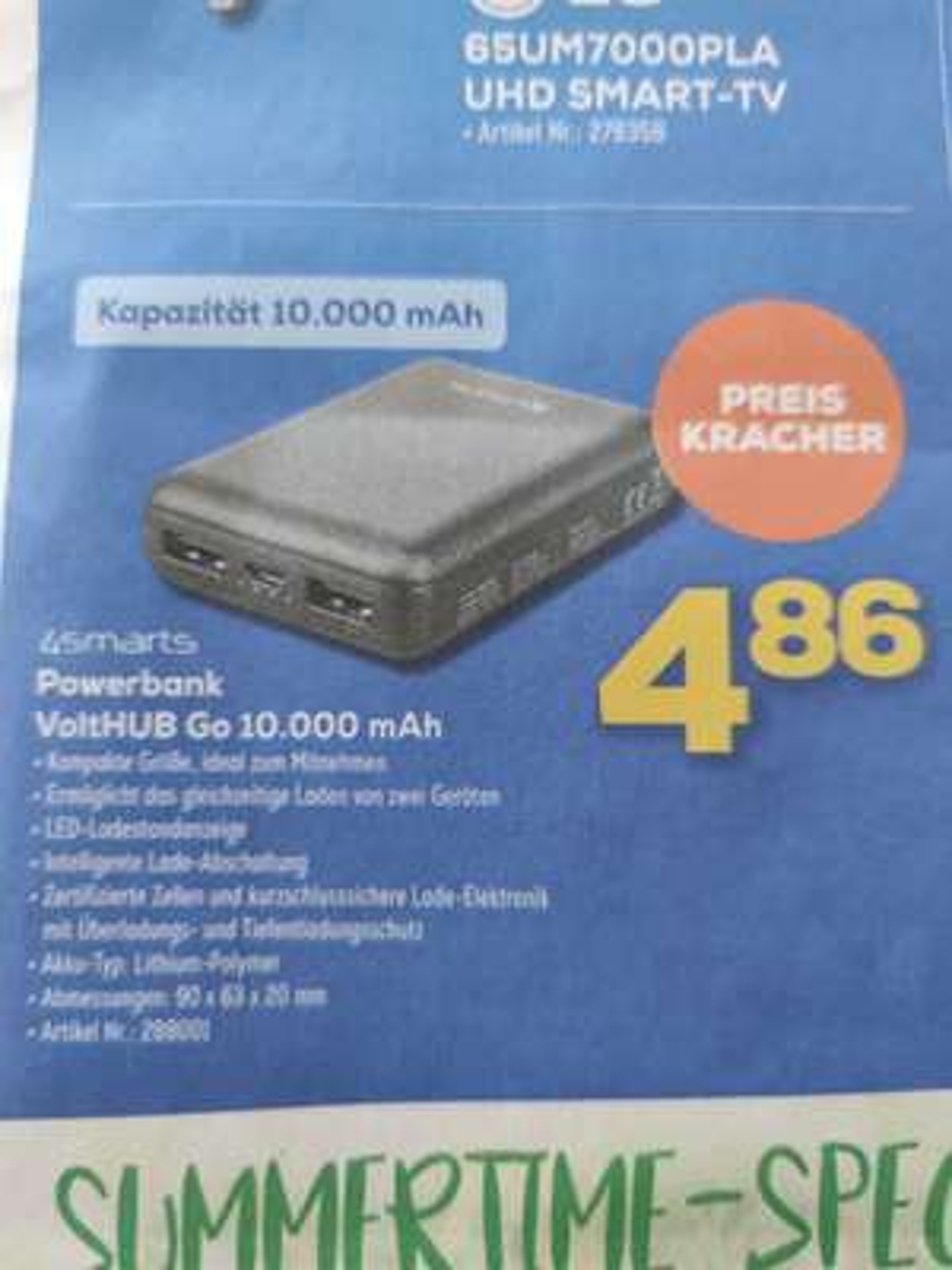 (Bundesweit Euronics oder Versand) 10.000 mAh Powerbank für 4,86€