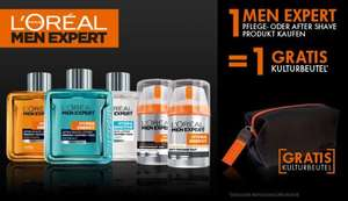Gratis L'Oréal Men Expert Kulturbeutel bei Kauf eines Pflegeproduktes [Amazon]