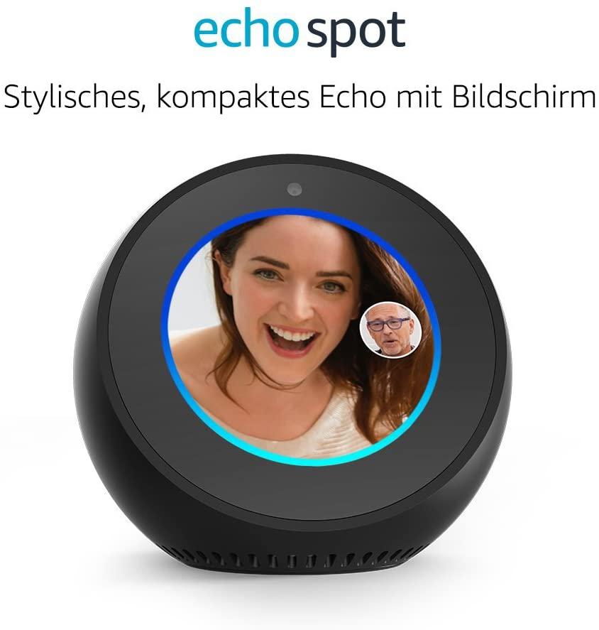 Amazon Echo Spot - Schwarz oder weiß für 87,12€ [Amazon, MediaMarkt & Saturn]