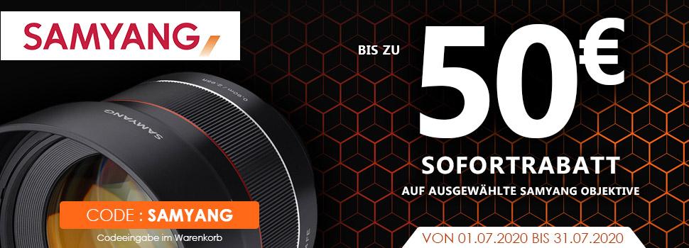 Samyang Objektive für Fuji X-Mount & Sony E-Mount 30€ - 50€ reduziert