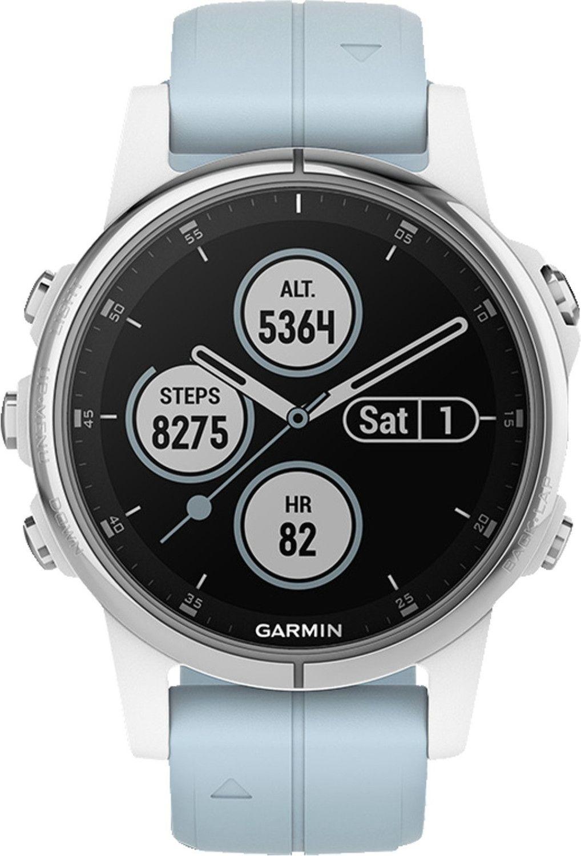 Garmin fenix 5S Plus Smartwatchwhite/light blue für 346,45€(Bestpreis) und schwarz bei Amazon für 349 €