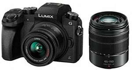 Panasonic Lumix Digitalkamera DMC-G7/DMC-G70, Brennweite 14-42 mm / 3.5-5.6, Lumix G Vario, 45-150 mm