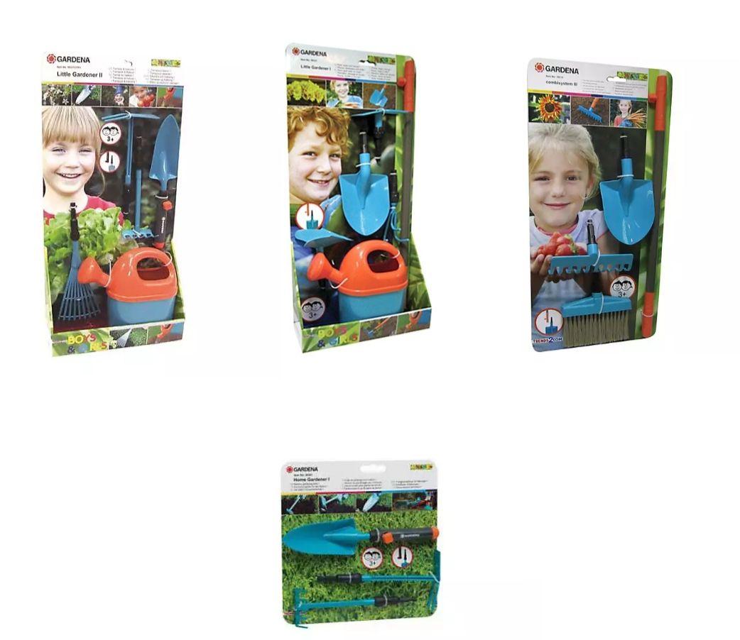 Knorrtoys Gardena kleiner Gärtner, Home Gardener, Kinder- Gartengeräte, versch. Stets, z.B. 4 teilig 4,79€ + 3,95€ Vers., mytoys