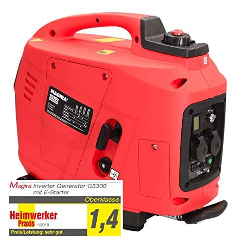 Inverter Stromerzeuger von Magira   Abverkauf G800 und G3300E (Rot)