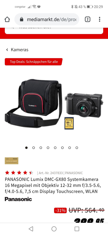 Panasonic Gx80 Kit