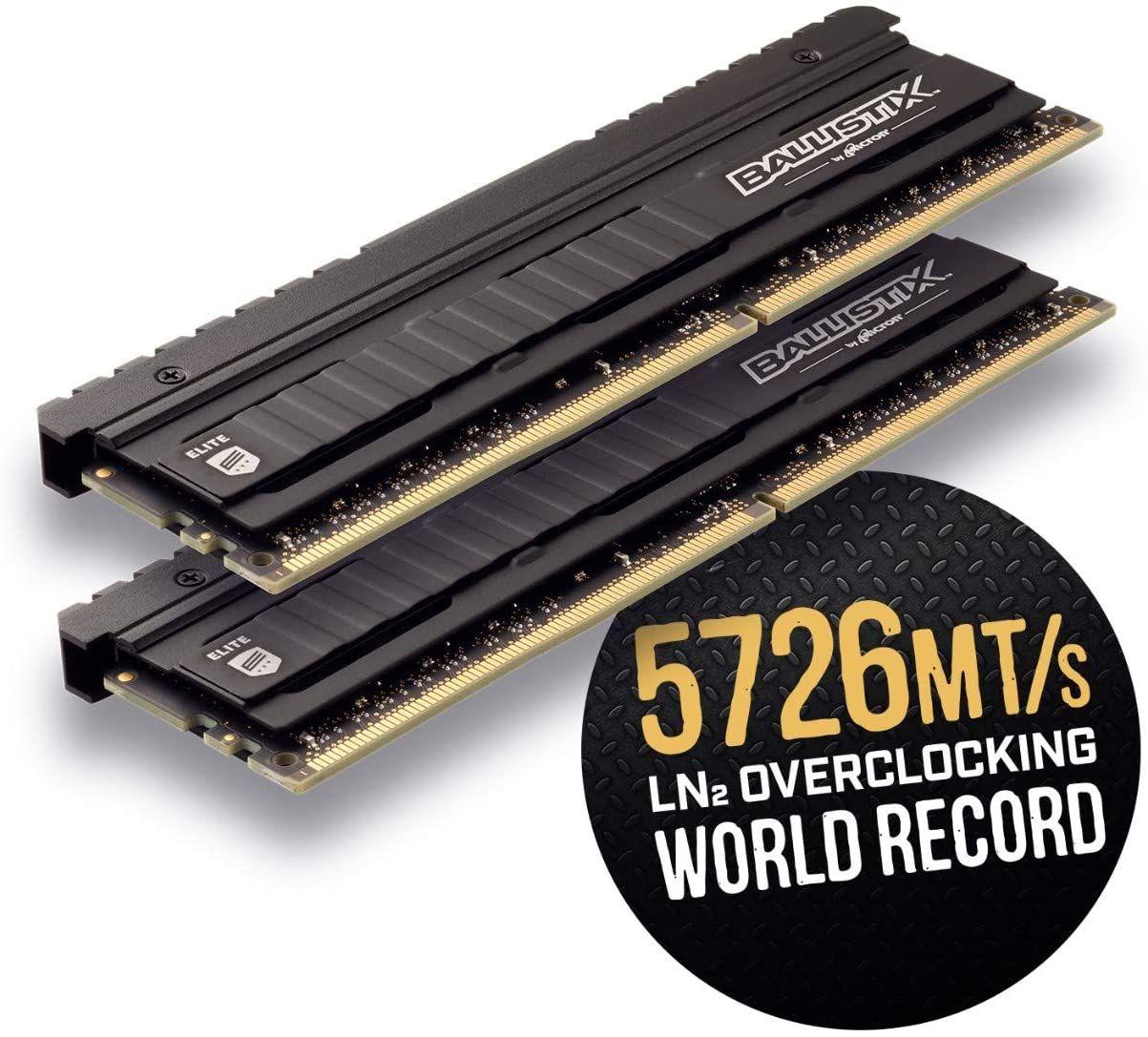 Crucial Ballistix Elite BLE2K8G4D36BEEAK 16GB (8GBx2) Desktop Gaming Speicher Kit (3600 MHz, DDR4, DRAM, CL16)