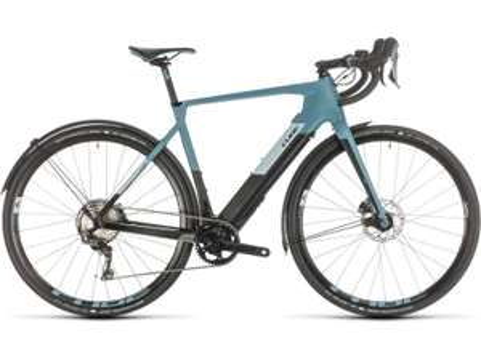 Gravel E-Bike Cube Nuroad Hybrid C:62 SL - 250 Wh - 2020 - 28 Zoll Carbon 15,8kg