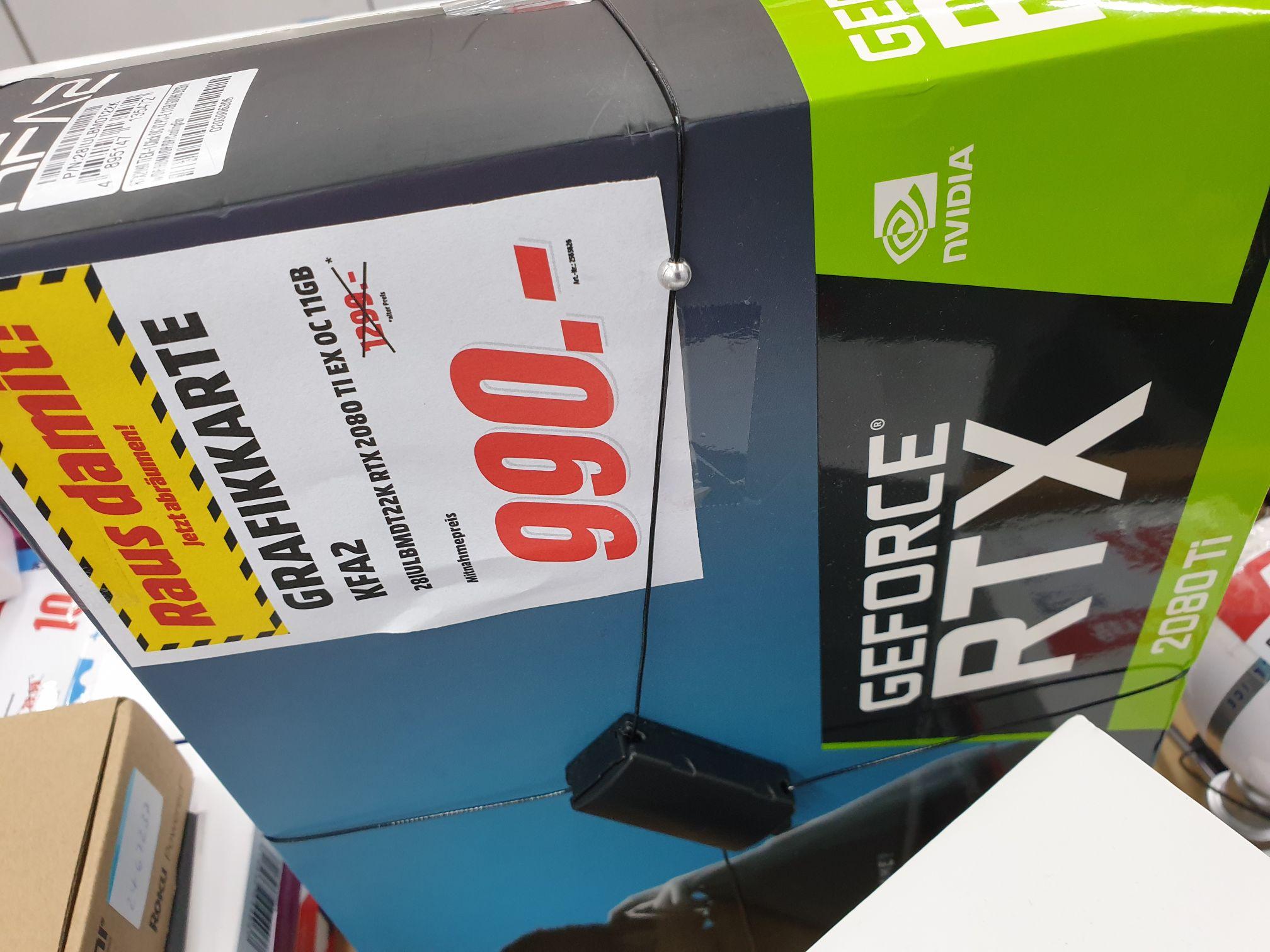 Lokal Media Markt Erding - KFA2 Geforce RTX 2080 Ti 11GB EX OC Einzelstück