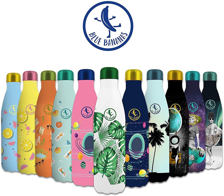 Blue Bananas 500 ml doppelwandige Edelstahl Trinkflasche, versch. Farben, Netto offline