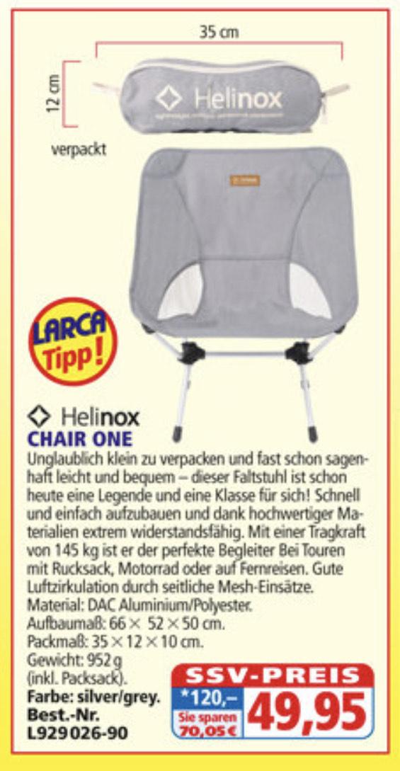 (Larca) Helinox Chair One & Savanna Campingstuhl